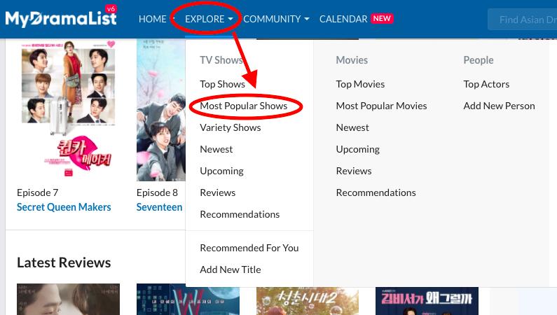 my drama list search